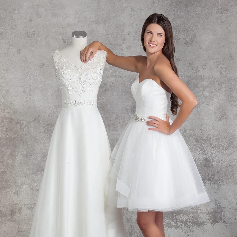 Strahlen Sie in Ihrem Hochzeitskleid nach Mass | modernes schlichtes ...